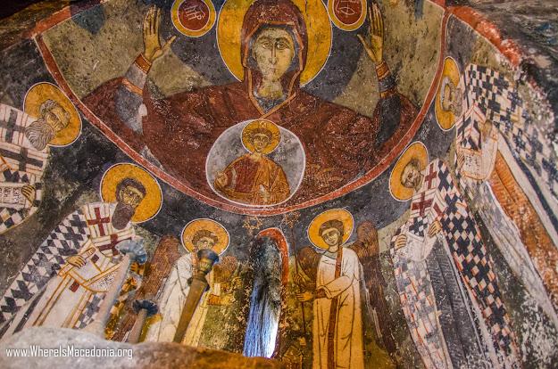 Fresco painting church St. Dimitrij village Gradeshnica