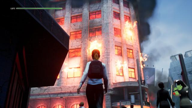Disaster Report 4 Summer Memories Edificio en llamas