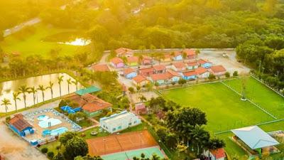 Visão aérea parcial do Hotel Fazenda 7 Belo em Socorro.