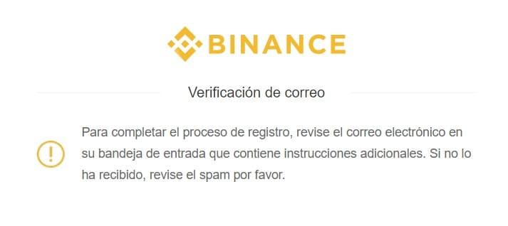 verificar mail en binance para crear cuenta y comprar Status SNT