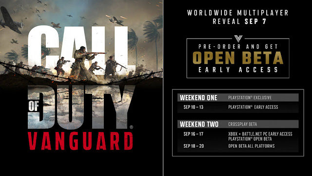 call of duty vanguard open beta release date first-person shooter activision sledgehammer games pc playstation 4 ps4 ps5 xbox one xb1 series x xsx reveal september 10 2021