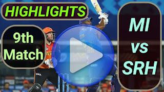 MI vs SRH 9th Match 2021