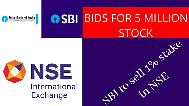 state bank of india to sell 1% stake in nse 50 lakh shares invites bids