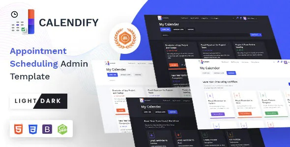 Best Appointment and Calendar Schedule Admin Template