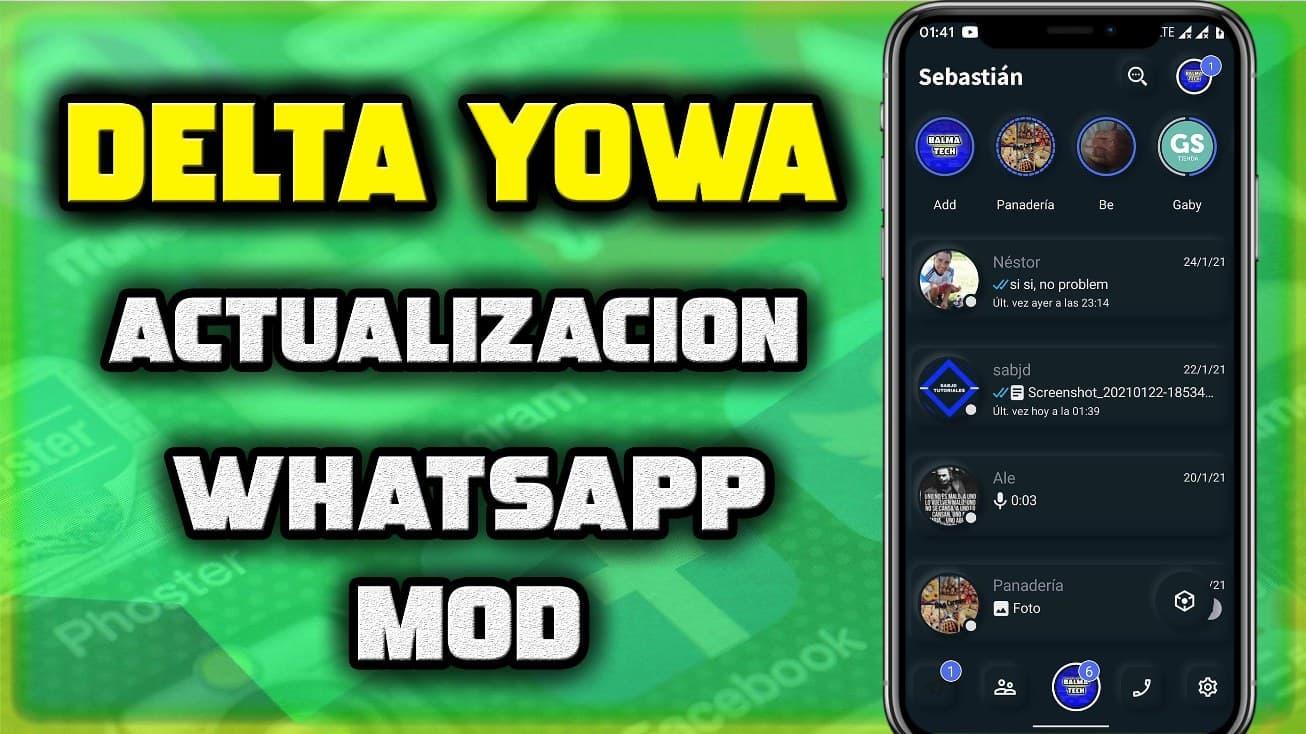 actualizacion delta yowa whatsapp estilo facebook