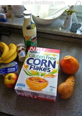 Nestlé Gluten Free Cornflakes mit Obst usw.