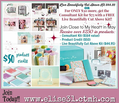 Scrapbooking Kit, Close to My Heart consultant Elise Sosa #scrapbook #papercrafting