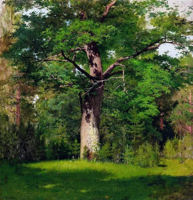 Исаак Ильич Левитан - Дуб. 1880