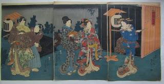 歌川三代豊国 姫小松野辺之糸遊の浮世絵版画販売買取ぎゃらりーおおのです。愛知県名古屋市にある浮世絵専門店。