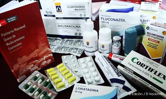 Minsa publicó importante lista de medicamentos genéricos
