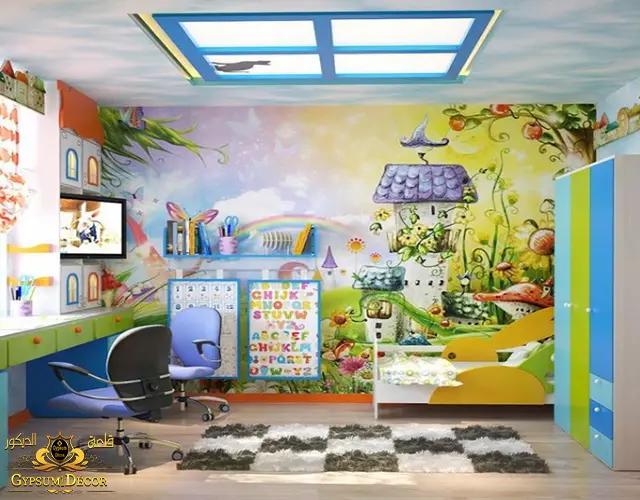 دهانات غرف الاطفال بسيطة