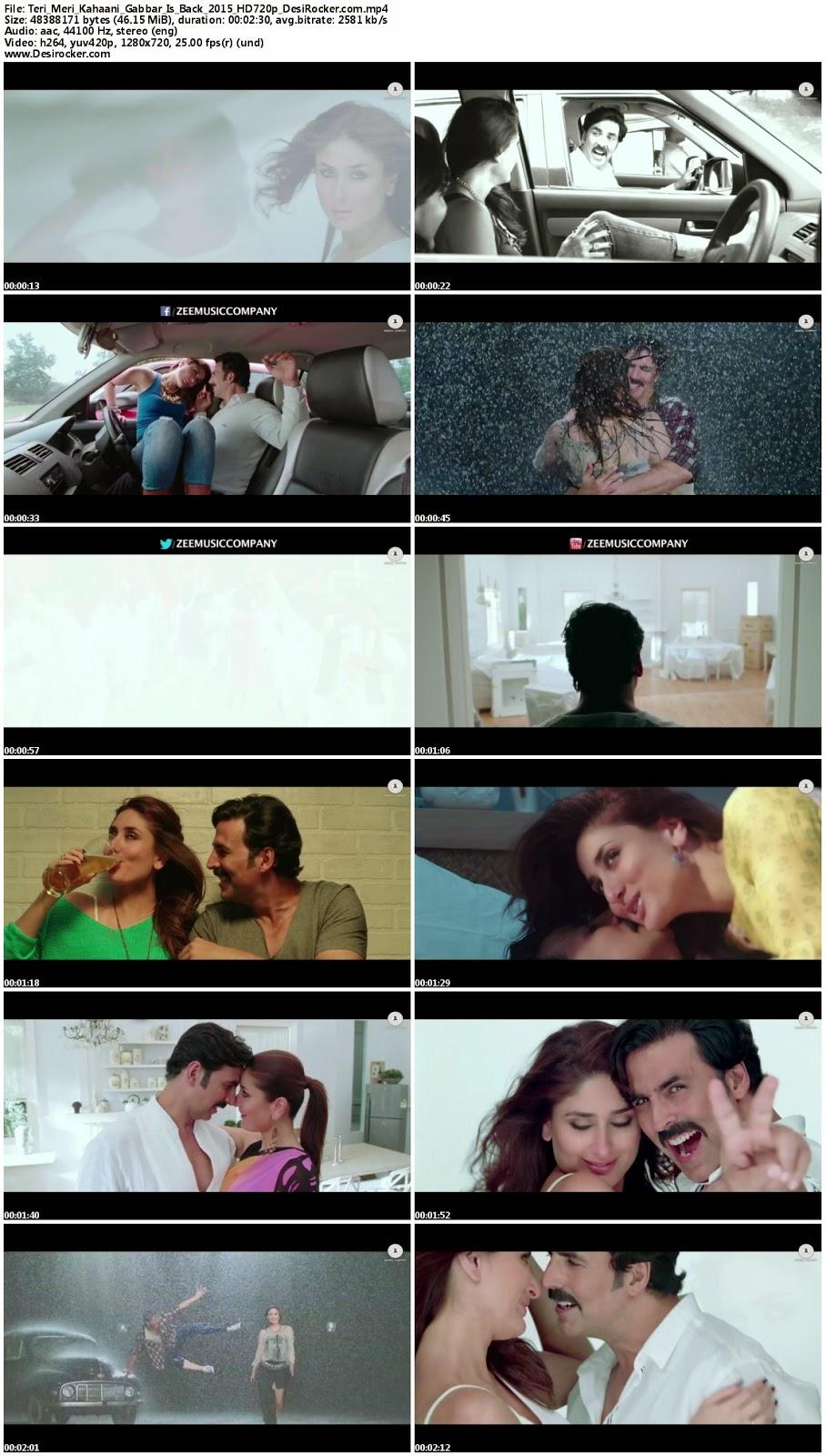 Download Teri Meri Kahaani – Gabbar Is Back (2015) HD 720p Full Video Song