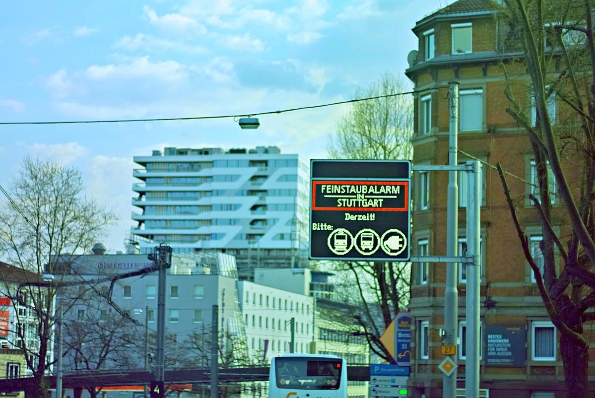 Kein Feinstataubalarm mehr in Stuttgart