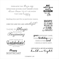 Stampin' Up! In Your Words Stamp Set