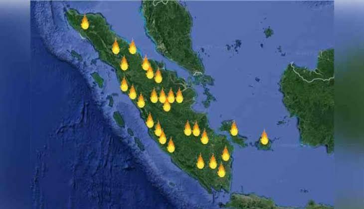 Satelit BMKG Deteksi 30 Hotspot di Riau