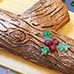 Chocolate Yule Log Filled with Eggnog mousse