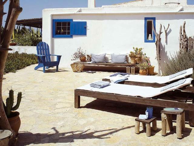 Patio de casa rústica en Formentera