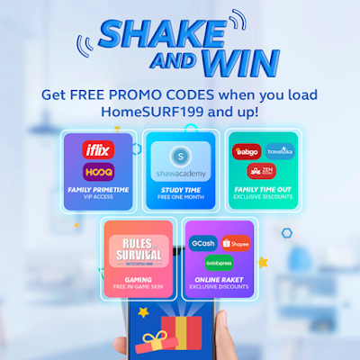 Get free promo codes with Globe Prepaid WiFi Shake and Win