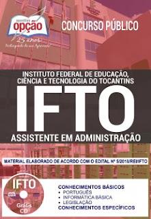 apostila IFTO Assistente em Administração 2018