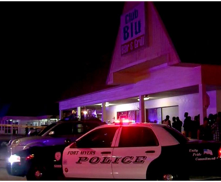 TWO PEOPLE WERE KILLED AND AS MANY AS 16 OTHERS WERE INJURED AT CLUB BLU IN FORT MYERS, FLORIDA.
