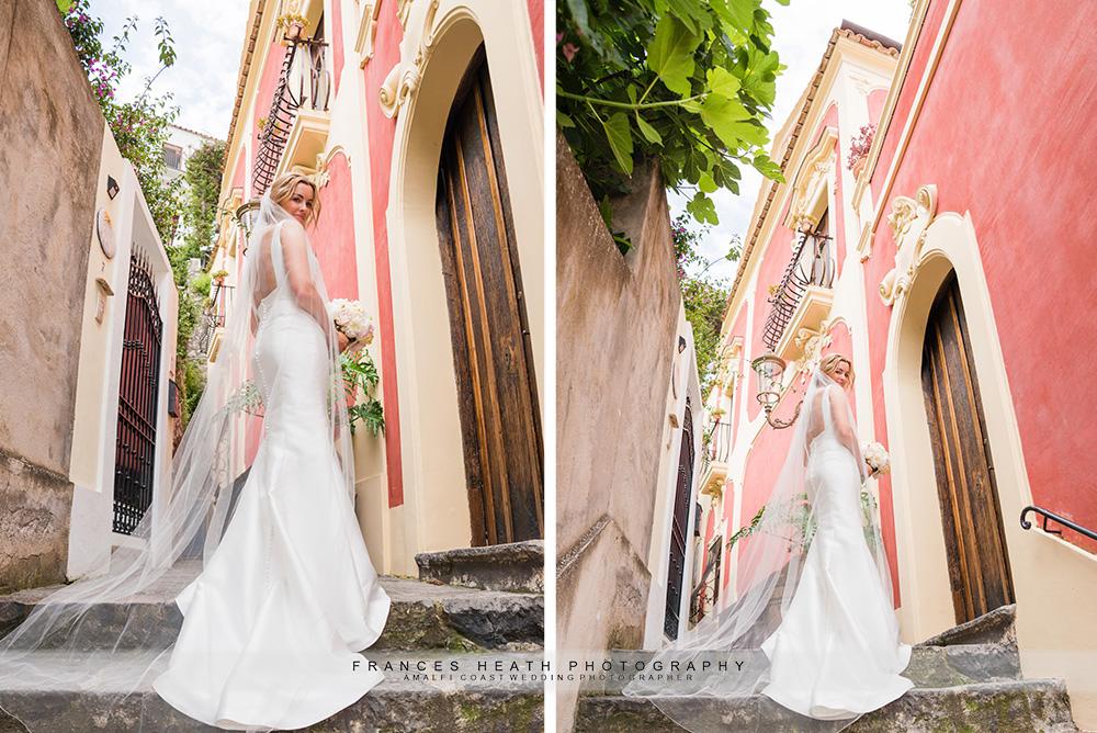 Positano bride portrait