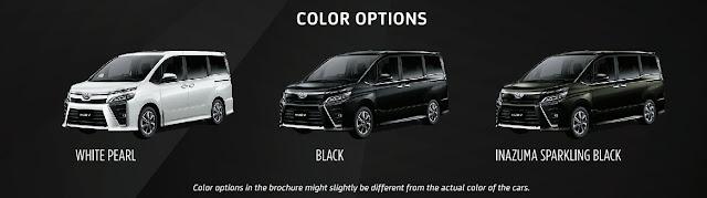 Warna Toyota Voxy 2019