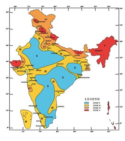 zone of earthquake in india