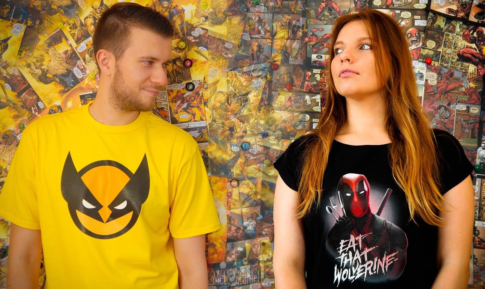 1 koszulkowo melodylaniella koszulki geek wolverine deadpool komiksy comisc ubrania dla par style fashion look
