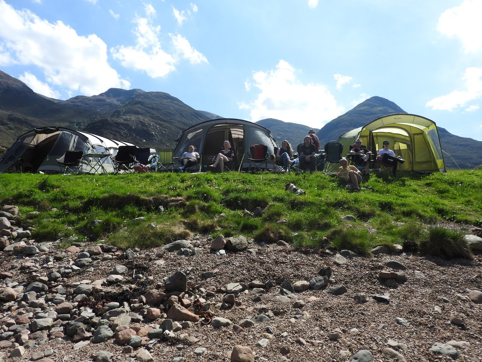 A colourful life: camping without wellies