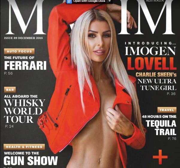 Maxim Australia Magazine December 2018 PDF Download