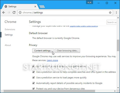 Loại bỏ hiển thị thông báo trên nhiều trình duyệt web