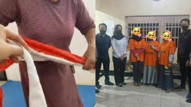 Polisi Akhirnya Tahan Tiga Emak-emak Penggunting Bendera Merah Putih