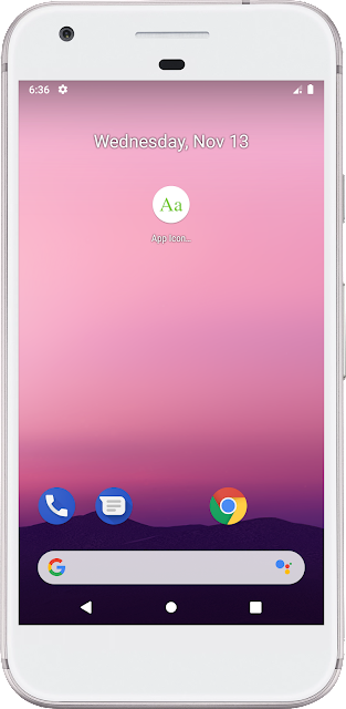 Android App Icon - Text