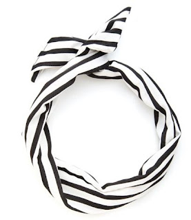 ban.do Black and White Striped Twist Scarf