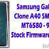Samsung Clone A40 MT6580 Firmware Flash File (Stock ROM)
