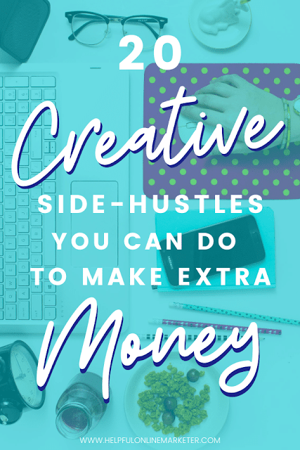 It is possible to make extra money from home without resorting to selling Avon. Find out what creative side hustles you can do from the comfort of your own home! Make money blogging, passive income ideas, side hustle ideas. #passiveincome #businessideas