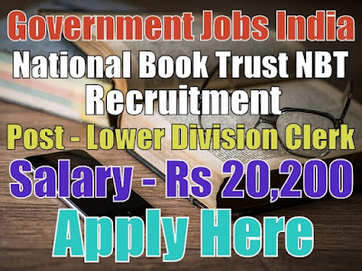 National Book Trust NBT Recruitment 2017