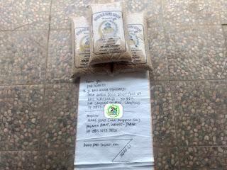 Benih padi yang dibeli  Pak WARTO Lamsel, Lampung. (Sebelum packing karung ).