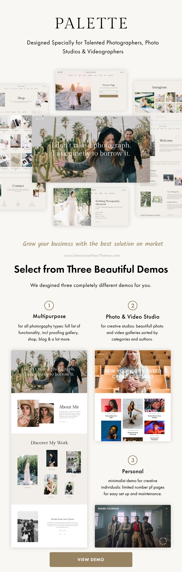 Photography Portfolio Multipurpose WordPress Theme