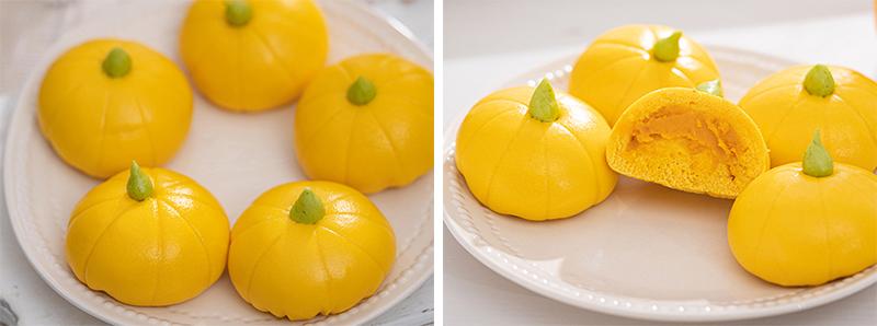 Pumpkin Steam Buns(Baozi) For Kids