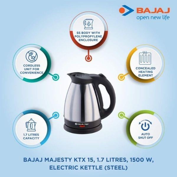Bajaj electric kettle hot water