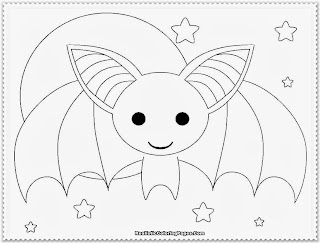 cute realistic bat coloring pages