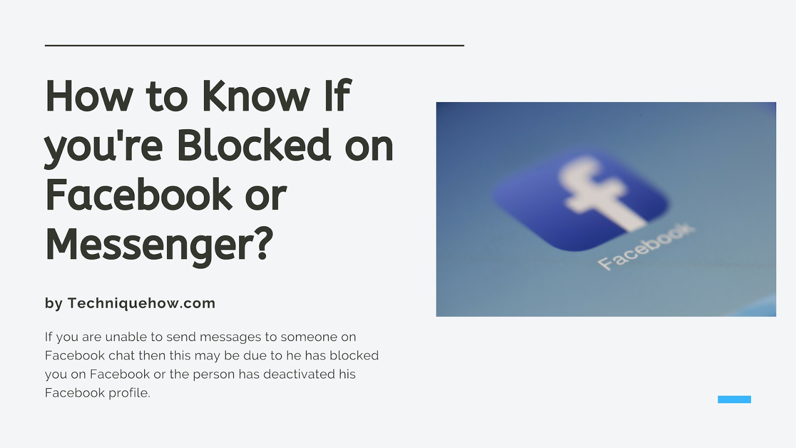 Tell if You are blocked on Facebook
