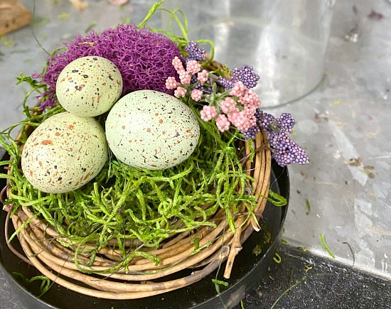 How to Make a Repurposed Cloche for Spring