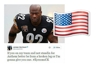 James Harrison National Anthem Wheelchair