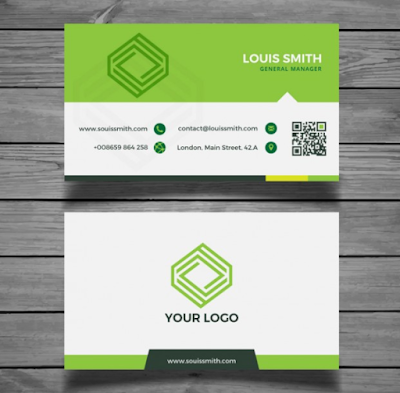 Template Kartu Nama - Corporate Green Business Card