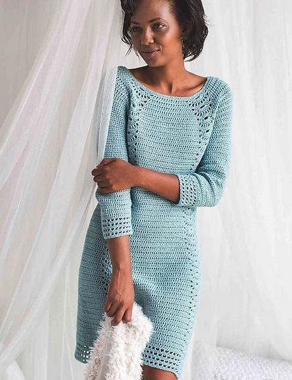 sukienka szydelkiem z filmem diy