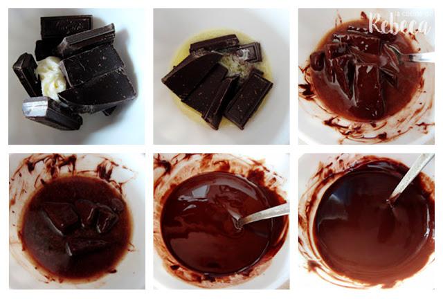 Receta de coulant de chocolate: derretir el chocolate