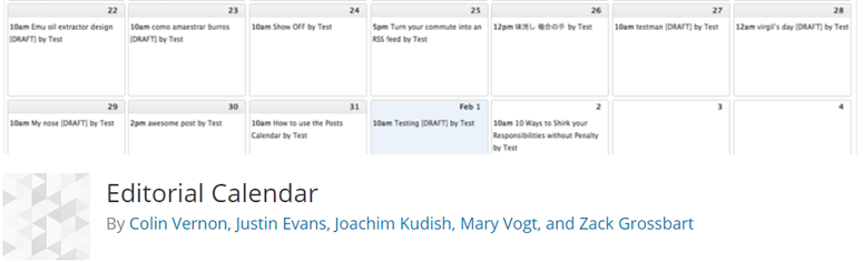 Kalender Editorial