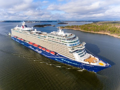 TUI Cruises Mein Schiff to Sail from Cape Liberty Bayonne New Jersey to New England, Canada, Florida,  Bahamas
